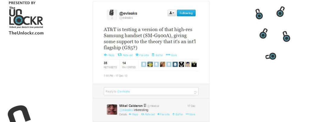 AT&T Testing Galaxy S5